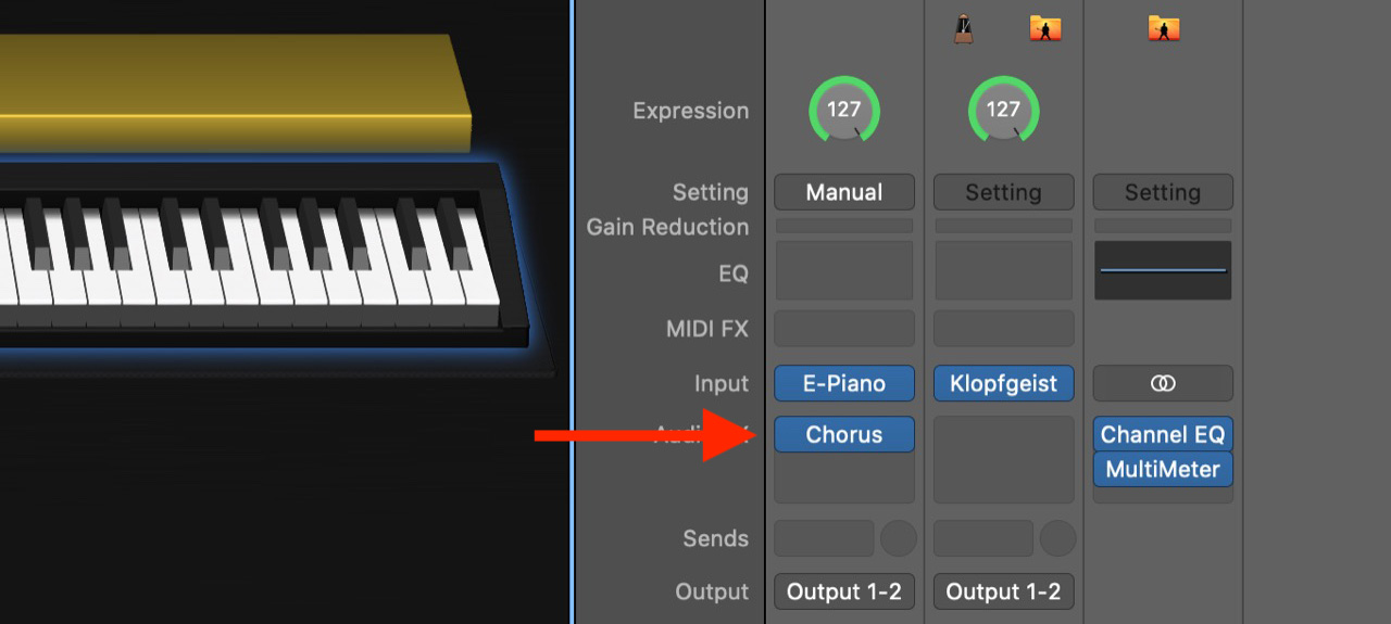 Remove all audio effects from the channel strip before adding the Auto Sampler plugin in MainStage.